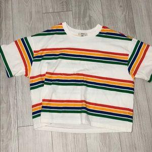 F21 striped tee
